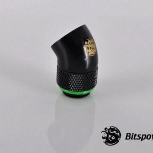 Bitspower G1/4'' Matt Black Rotary 45-Degree IG1/4'' Extender