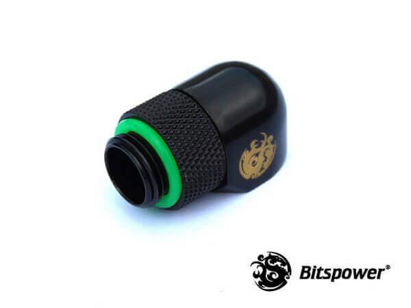 Bitspower G1/4'' Matt Black Rotary 90-Degree IG1/4'' Extender