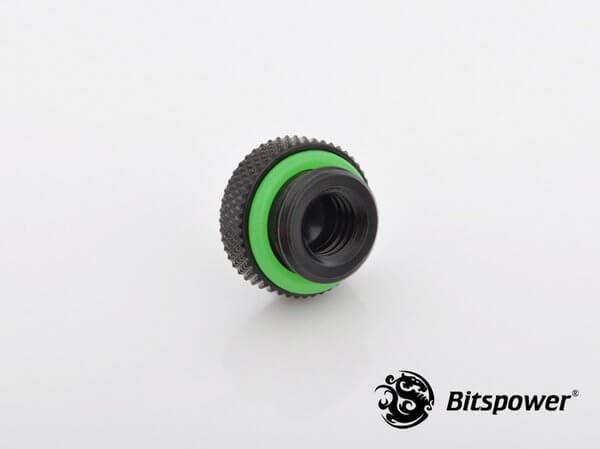 Bitspower G1/4'' Matt Black Stop Fitting V2