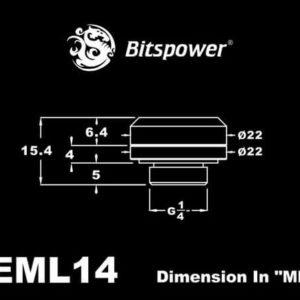 Bitspower G1/4'' Royal Blue Enhance Multi-Link For OD 14MM