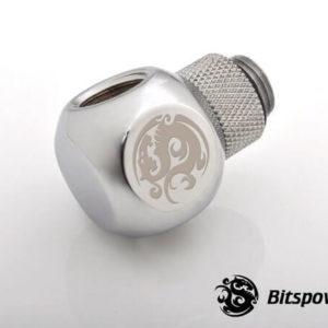 Bitspower G1/4'' Silver Shining Q Plus-Rotary IG1/4''X2 Extender