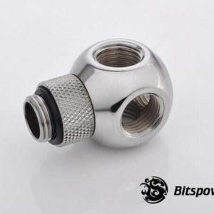 Bitspower G1/4'' Silver Shining Q Plus-Rotary IG1/4''X4 Extender