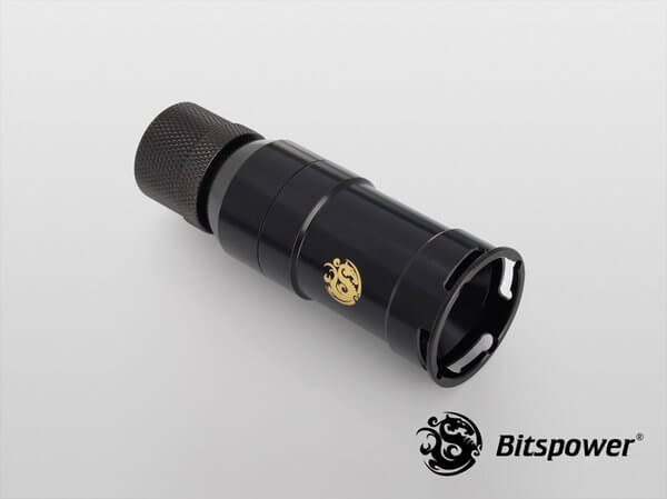 Bitspower Matt Black Quick-Disconnected Female With Rotary Compression Fitting CC2 Ultimate For ID 3