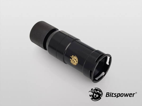 Bitspower Matt Black Quick-Disconnected Female With Rotary Compression Fitting CC3 For ID 3/8'' OD 5