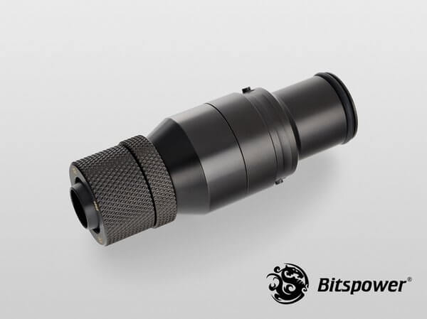 Bitspower Matt Black Quick-Disconnected Male With Rotary Compression Fitting CC2 Ultimate For ID 3/8