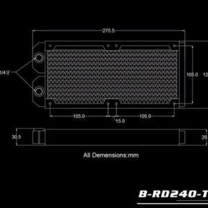 Bykski B-RD240-TN - 240 Slim Radiator