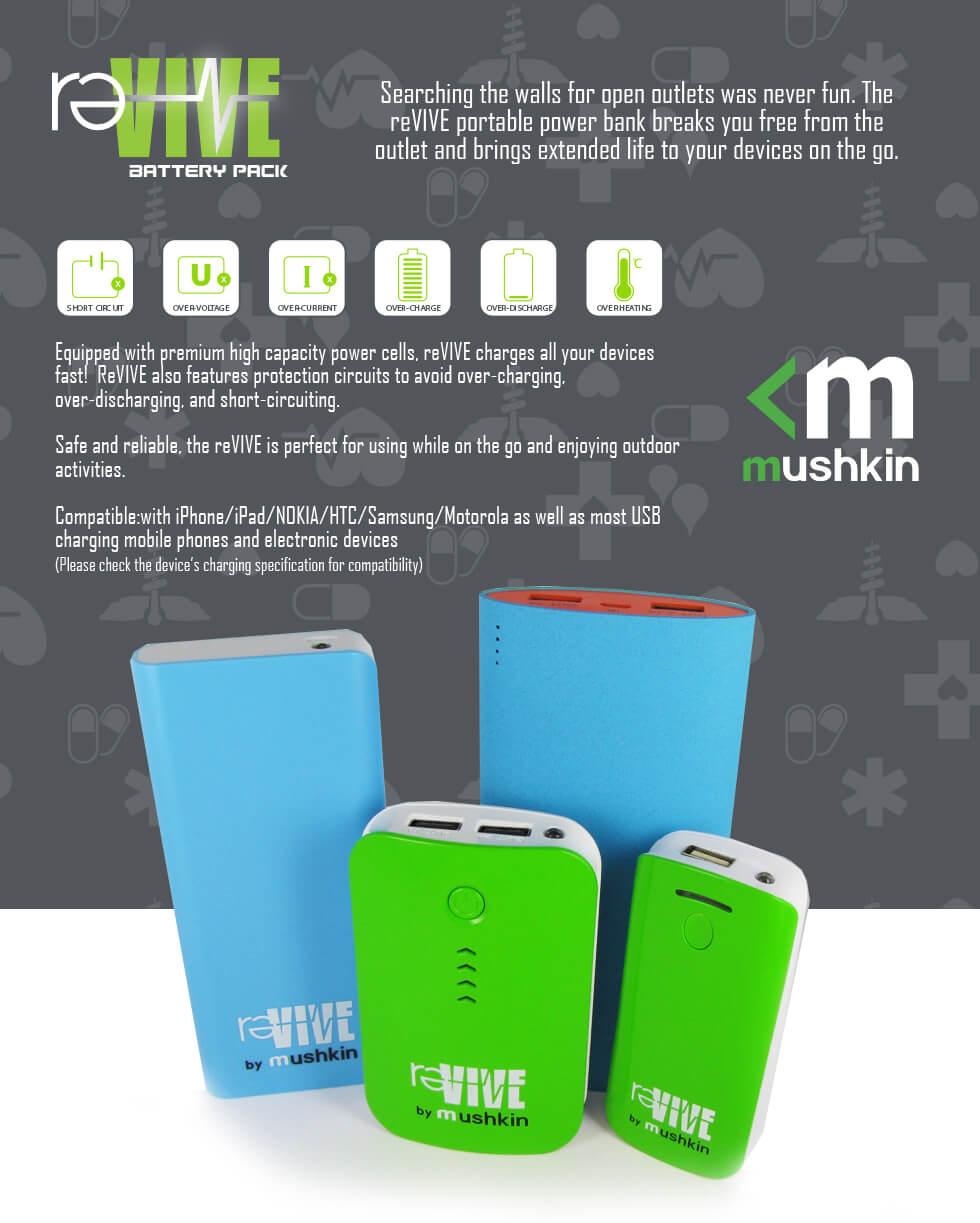 Thong So Mushkin Revive® — 4400mah Power Bank