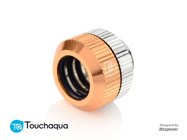 """Touchaqua Dual O-Ring G1/4"""" Tighten Fitting For Hard Tubing OD14MM (Rose Golden)"""