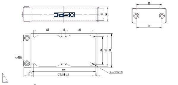 XSPC RX240 V3 White - Extreme Performance Radiator