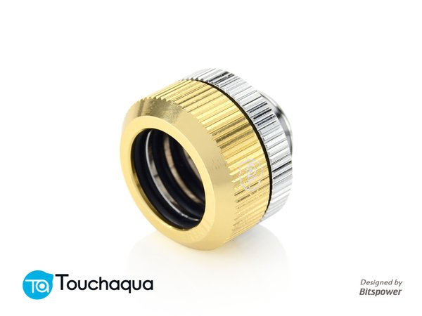 Touchaqua Dual O Ring G1,4 Tighten Fitting For Hard Tubing Od14mm (golden)