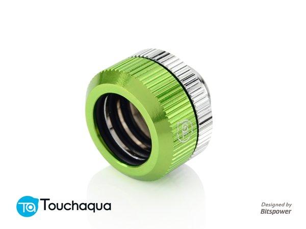 Touchaqua Dual O Ring G1,4 Tighten Fitting For Hard Tubing Od14mm (green)