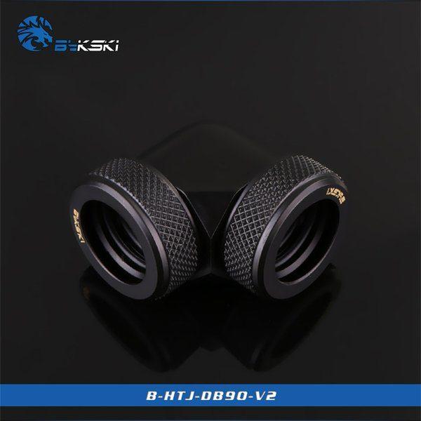 Bykski Black 90 Double Head Fast Tight Joints - B-HTJ-DB90V2-BK