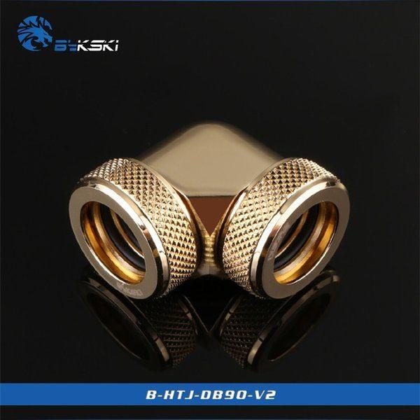 Bykski Gold 90 Double Head Fast Tight Joints - B-HTJ-DB90V2-GOLD