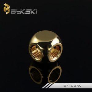 Bykski Golden Three Pass Joints - B-TE3-GOLDEN