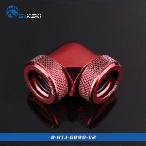 Bykski Red 90 Double Head Fast Tight Joints - B-HTJ-DB90V2-RD