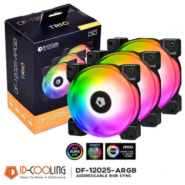 ID-Cooling DF-12025-ARGB-TRIO RGB Fan (3 Fan)
