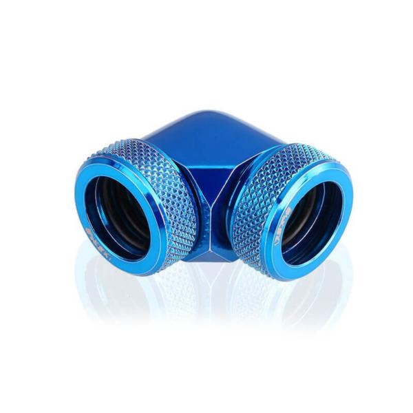 Bykski Blue 90 Double Head Fast Tight Joints - B-HTJ-DB90V2-BL