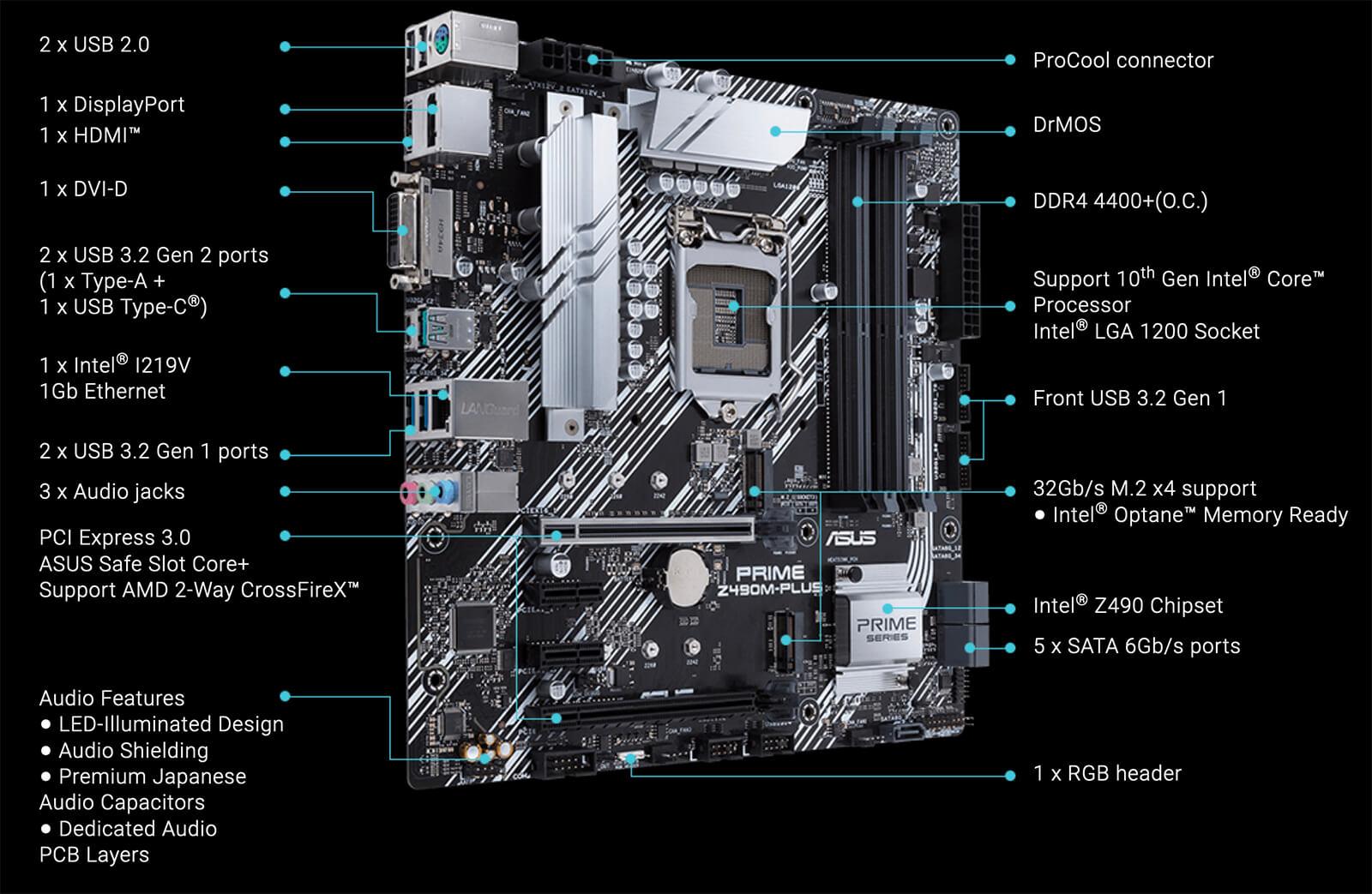 Asus Prime Z490m Plus Socket 1200 01