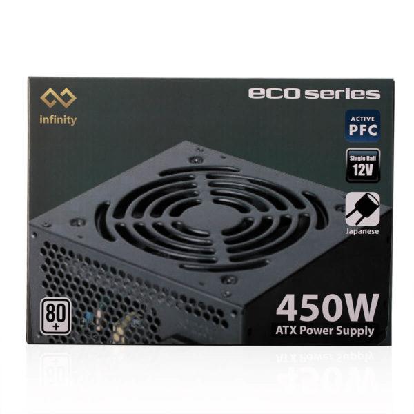 Infinity Eco 450w 80plus Single Rail – True Power 01
