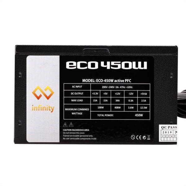 Infinity Eco 450w 80plus Single Rail – True Power 07