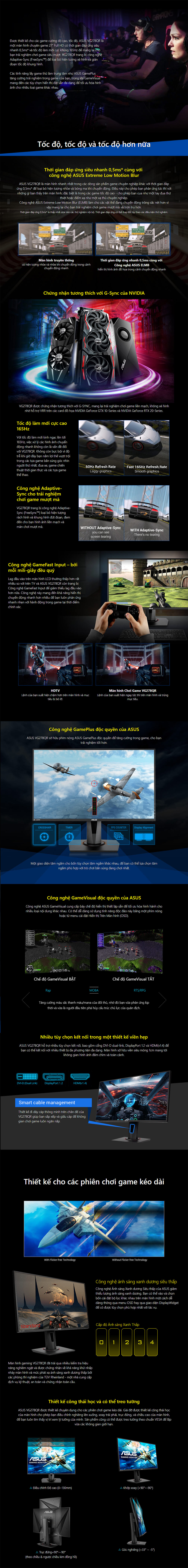 Asus VG278QR Gaming Monitor – 27 inch - FHD - 0.5ms - 165Hz