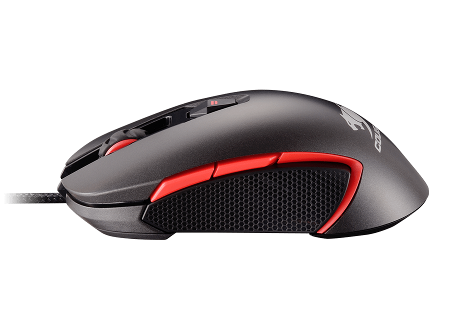 Cougar 400M Grey/Red RGB Led - Avago A3090 Optical Gaming Mouse