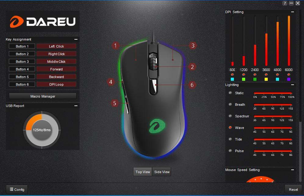 DAREU EM908 RGB Gaming Mouse