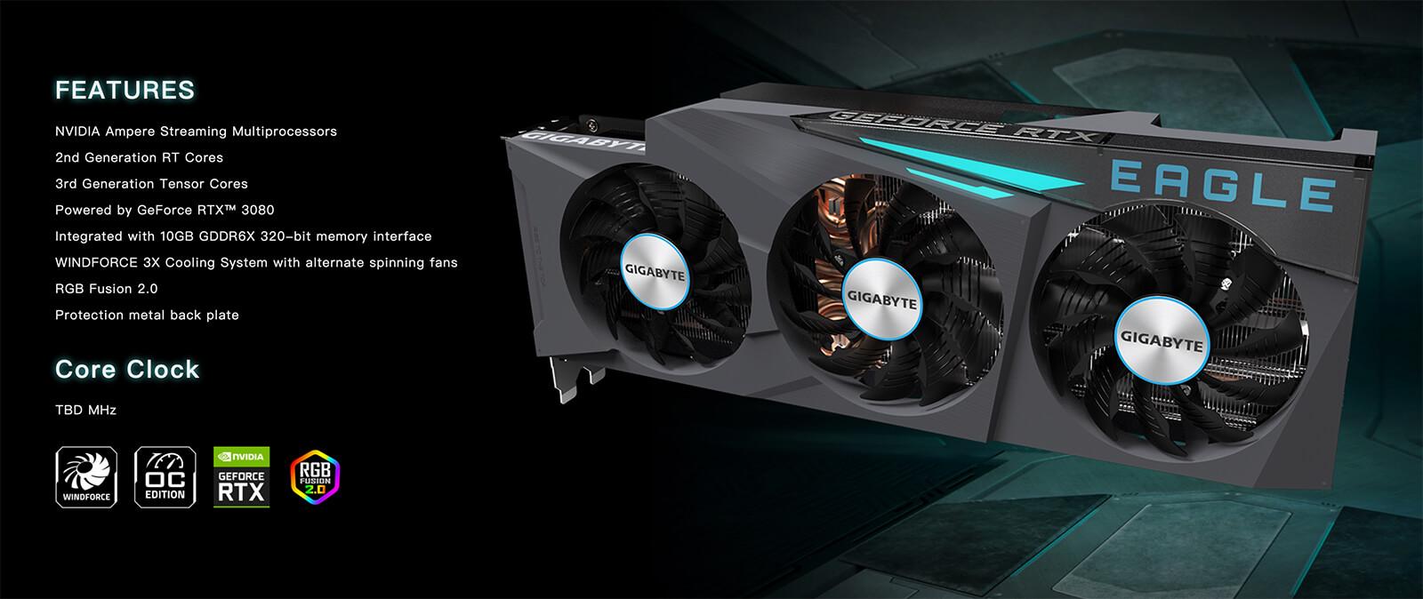 Gigabyte Geforce® Rtx 3080 Eagle Oc 10gb