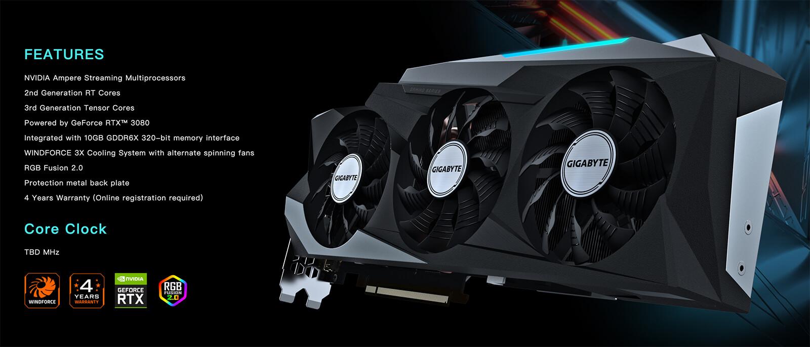 GIGABYTE GeForce® RTX 3080 Gaming OC 10GB - Tân Doanh