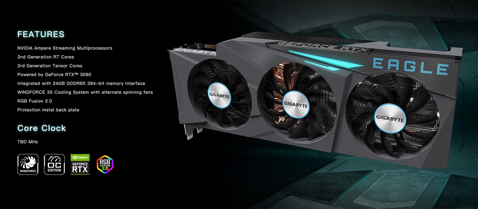 Gigabyte Geforce® Rtx 3090 Eagle Oc 24gb
