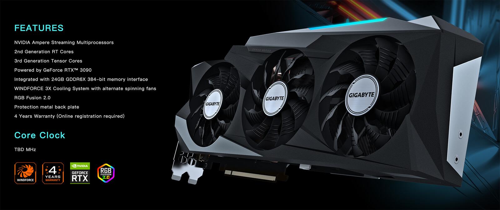 Gigabyte Geforce® Rtx 3090 Gaming Oc 24gb