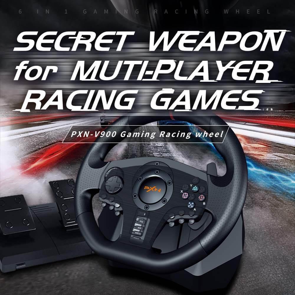 Vô Lăng Chơi Game Pxn V900 Gaming Racing Wheel Post1