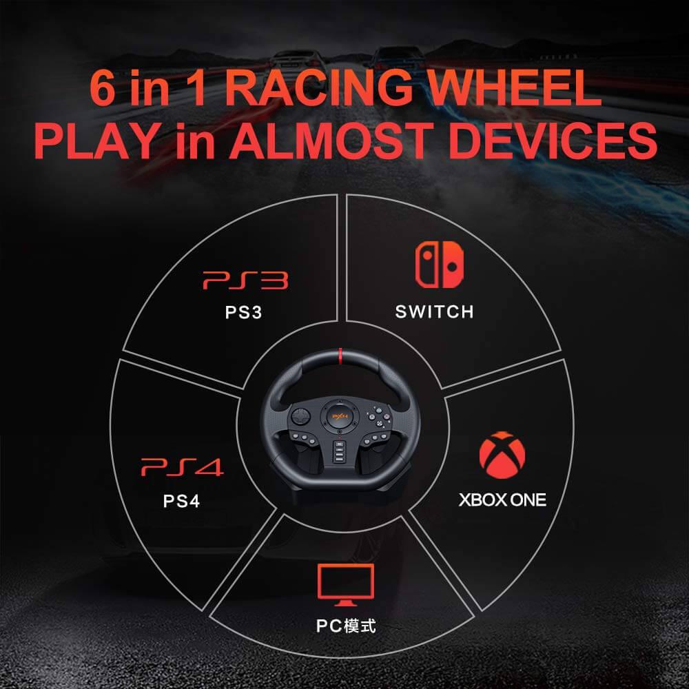 Vô Lăng Chơi Game Pxn V900 Gaming Racing Wheel Post2