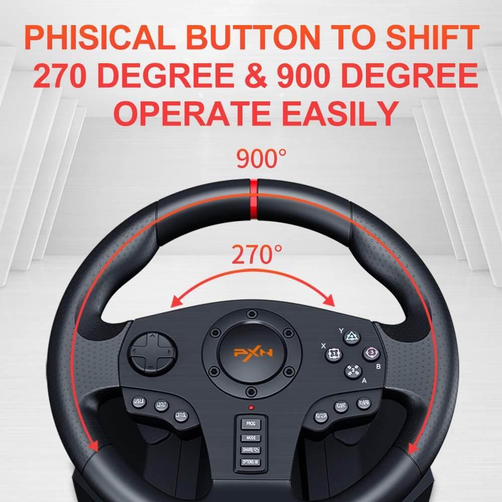 Vô Lăng Chơi Game Pxn V900 Gaming Racing Wheel Post3