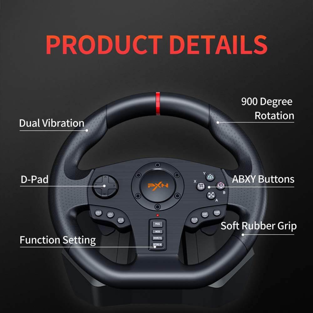Vô Lăng Chơi Game Pxn V900 Gaming Racing Wheel Post5