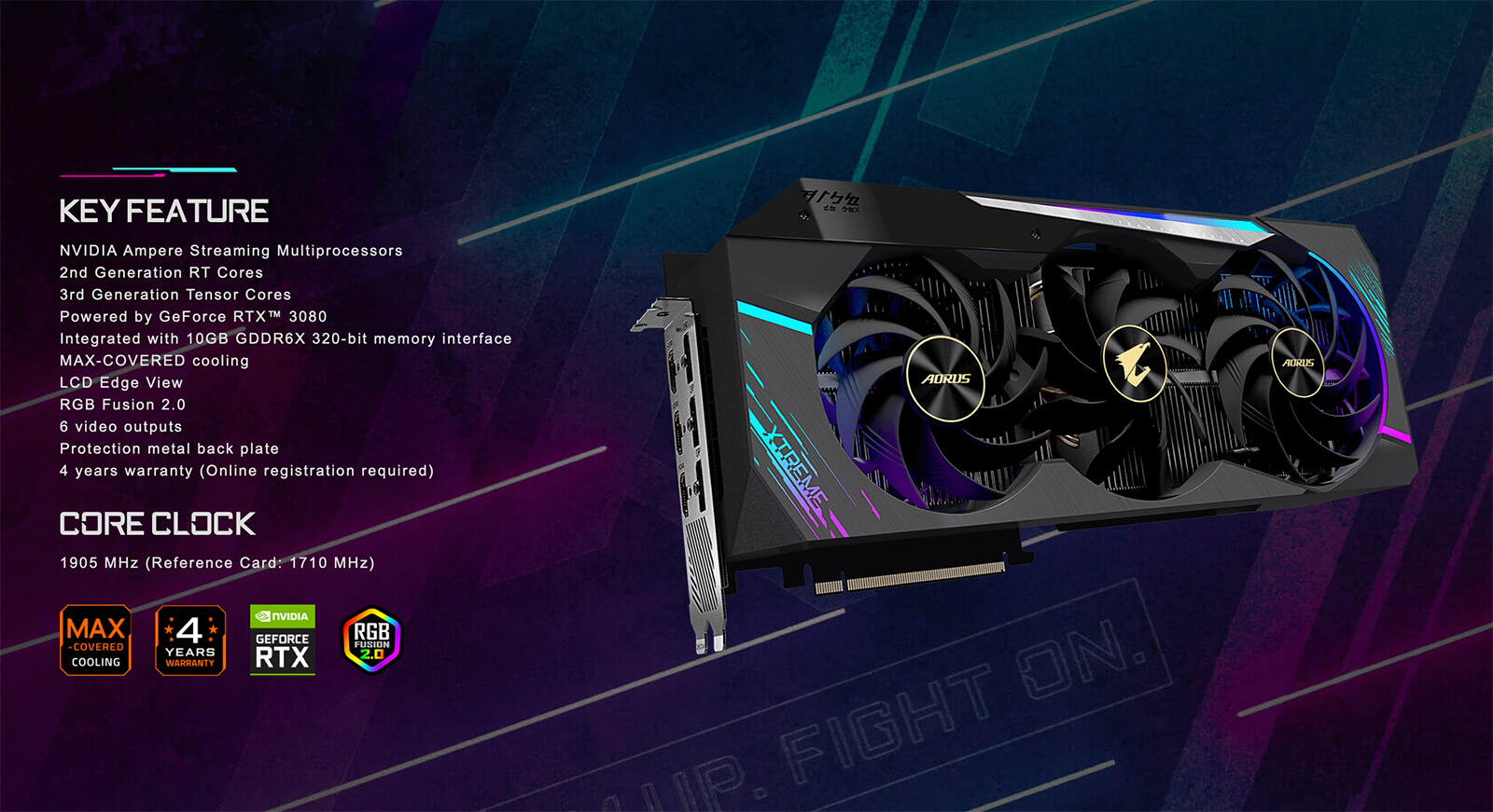 Aorus Geforce® Rtx 3080 Extreme 10g Featured
