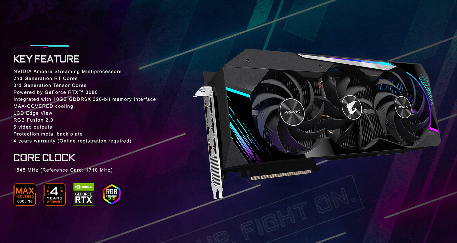 Aorus Geforce® Rtx 3080 Master 10g Featured
