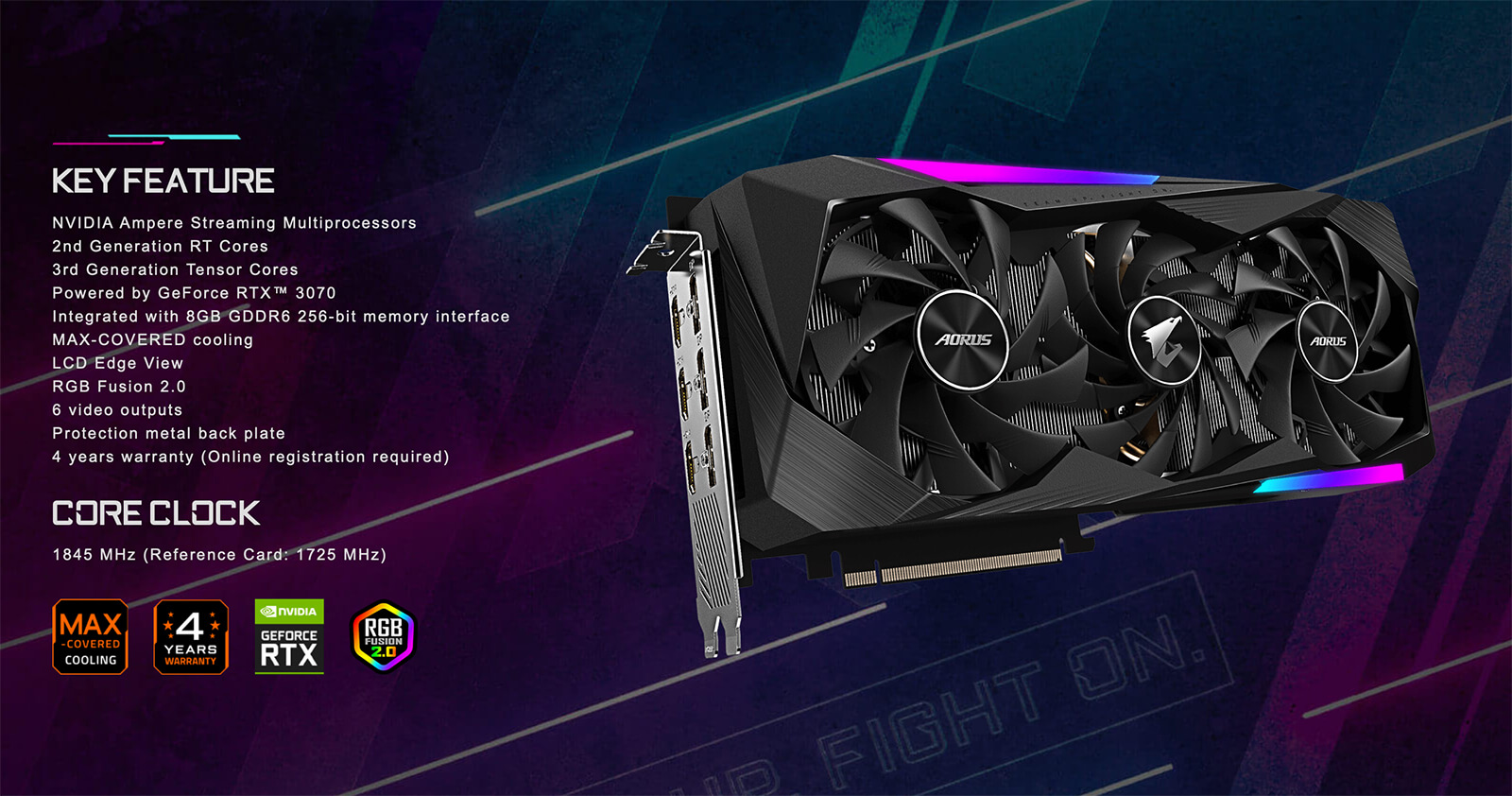 Aorus Geforce® Rtx 3080 Master 8gb Gddr6 Feature