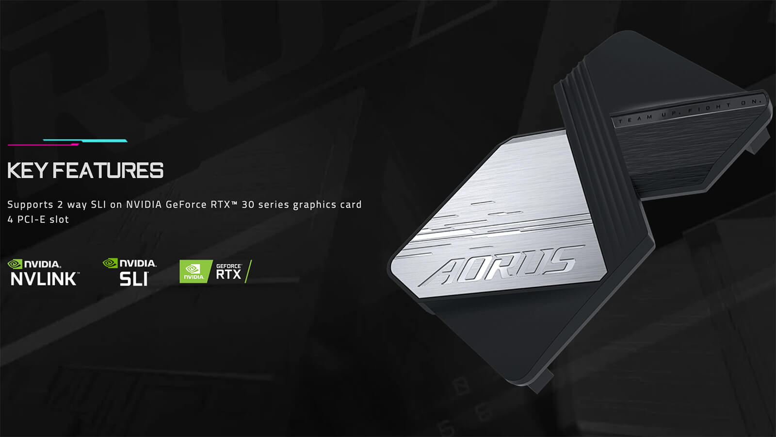 Aorus Geforce Rtx Nvlink™ Bridge For 30 Series Feature 01