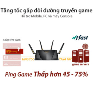 ASUS RT-AX88U Gaming Router - Dual Band Gigabit Wireless Router / 8 GB Ports / AiMesh Compatible / MU-MIMO