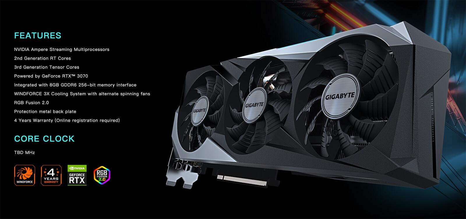 Gigabyte Geforce® Rtx 3070 Gaming Oc 8gb Feature