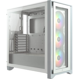 Icue 4000x Rgb Tempered Glass Mid Tower Atx Case — White 01