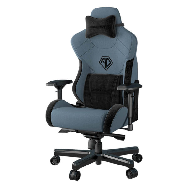 Andaseat T Pro 2 Smooth Line Fabric Gaming Chair (blue) H2