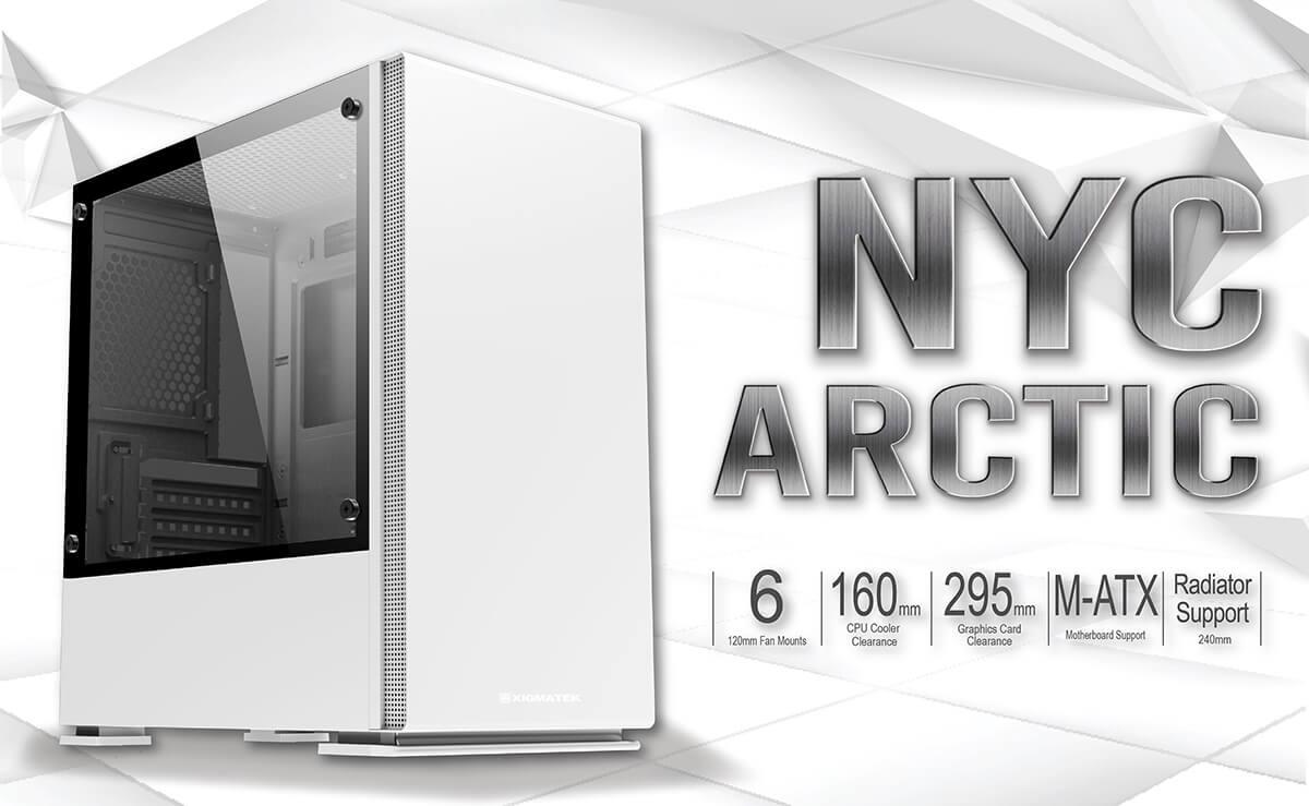 Case Xigmatek Nyc Artic White Mini Tower Case Feature01