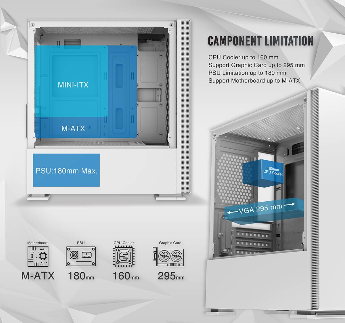 Case Xigmatek Nyc Artic White Mini Tower Case Feature02