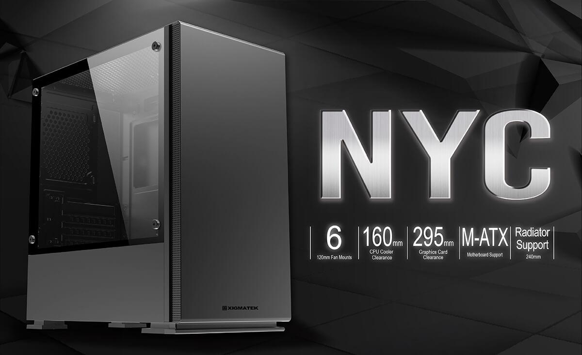 Case Xigmatek Nyc Black Mini Tower Case Feature01