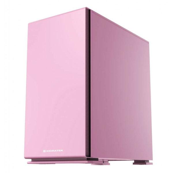 Case Xigmatek Nyc Queen Pink Mini Tower Case 06