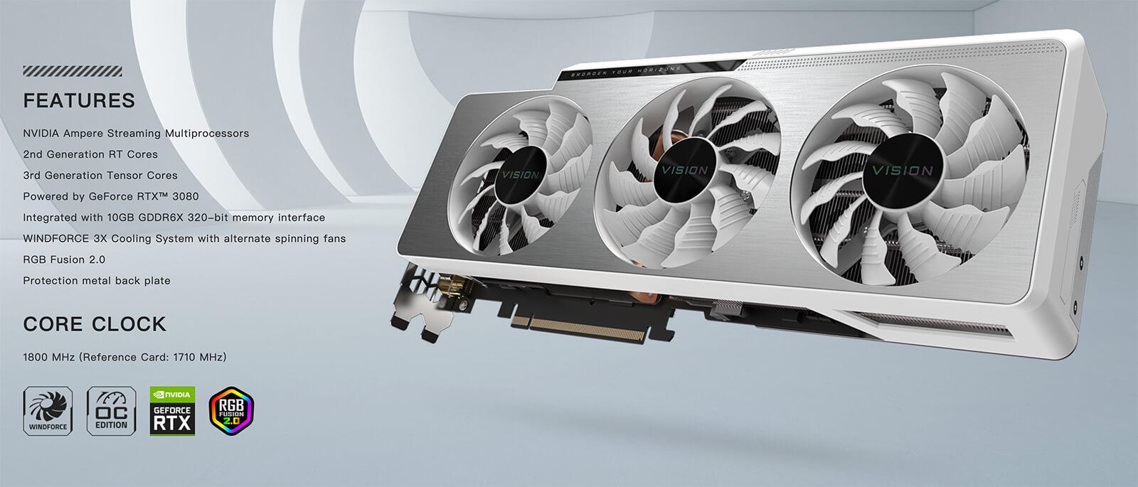 Gigabyte Geforce® Rtx 3080 Vision Oc 10g Keys Feature