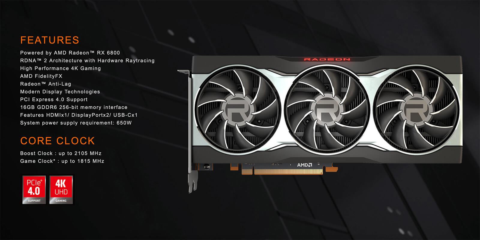 Gigabyte Radeon™ Rx 6800 16g Features