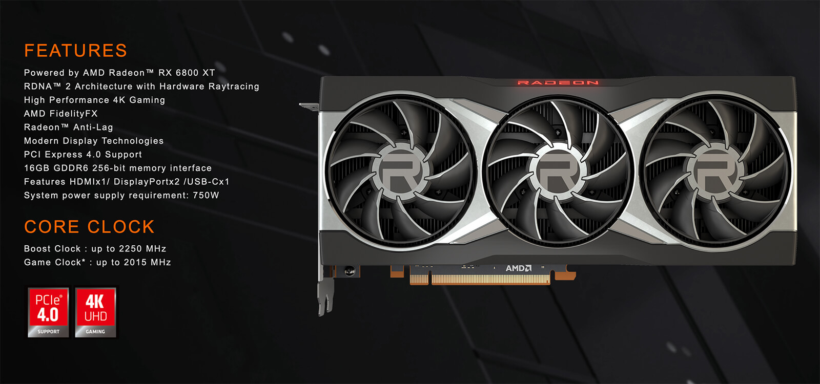 Gigabyte Radeon™ Rx 6800 Xt 16g 16gb Gddr6 Features